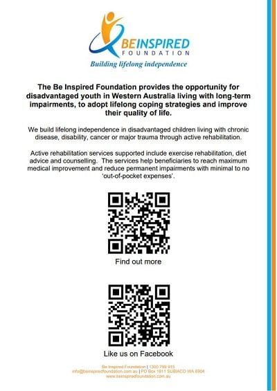 Be Inspired Foundation - QR Codes (A4 Flyer) [400x565]